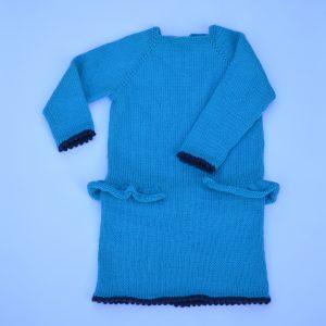 Strikket kjole til barn