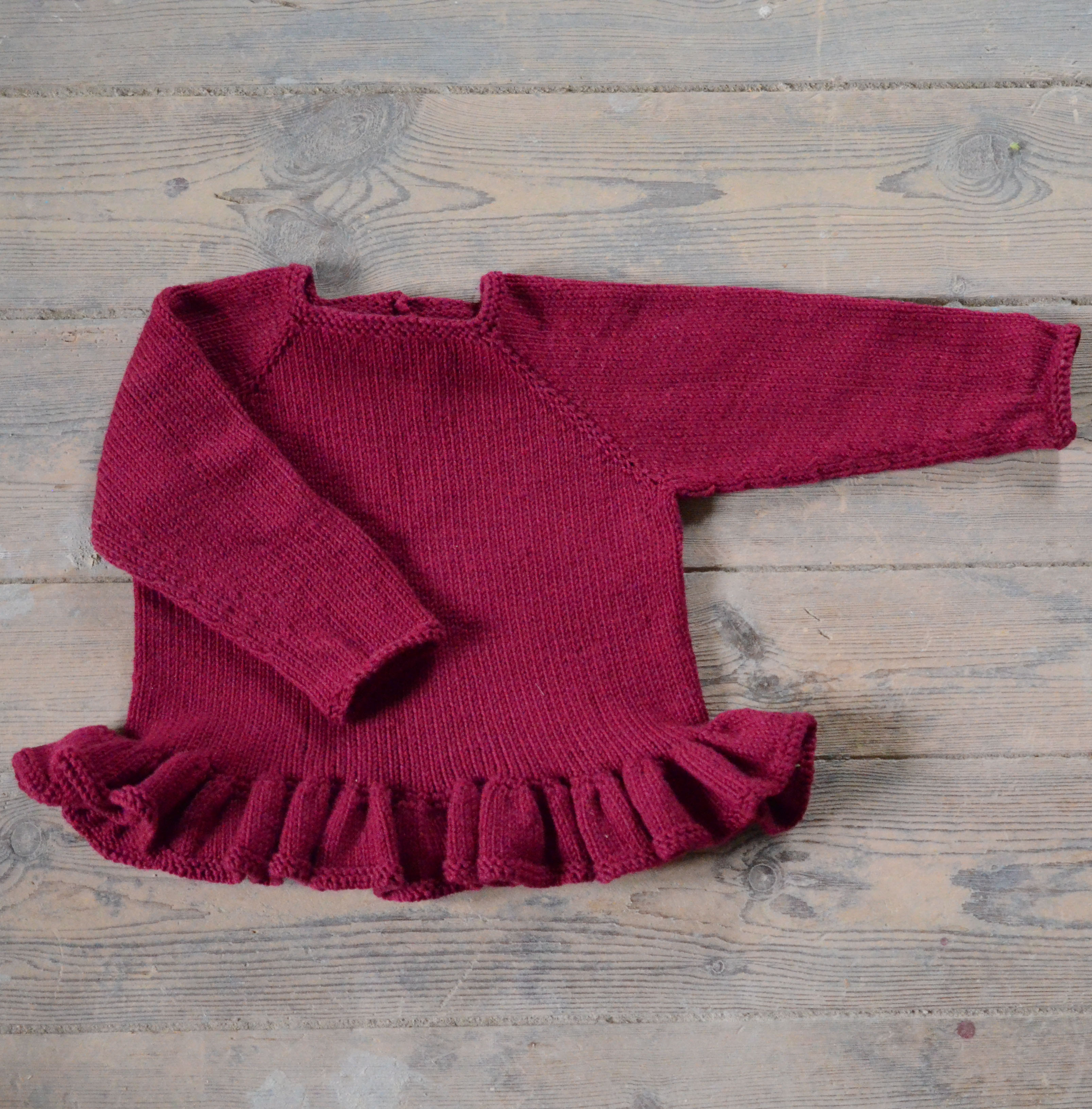 Strikke opskrift på Ingeborg blusen til børn