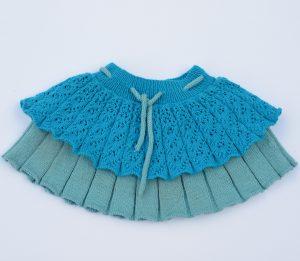 Mønster på strikket nederdel til barn