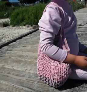 Strikkeopskrift på strandnet til børn